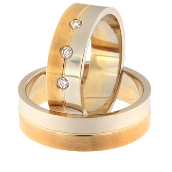 Kullast abielusõrmus Kood: rn0108-6-1/2vl-1/2km1-3k