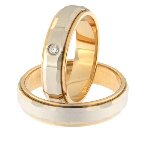 Kullast abielusõrmus teemantidega Kood: rn0111-5l-pvl-ak-1k
