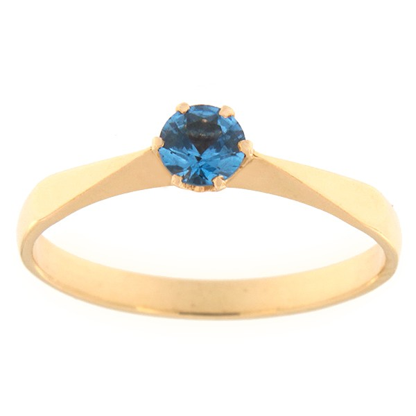 Kullast sõrmus tsirkooniga Kood: rn0127-sinine