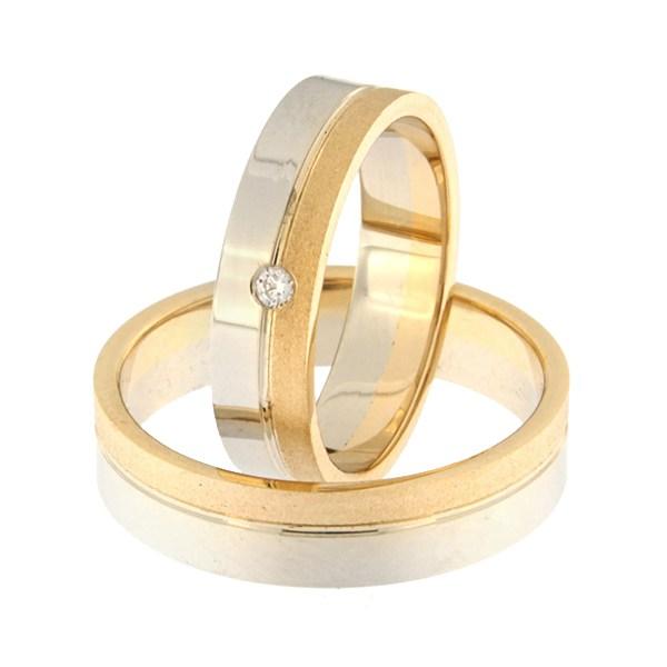Kullast abielusõrmus Kood: rn0152-5-1/3km2-2/3vl-1k