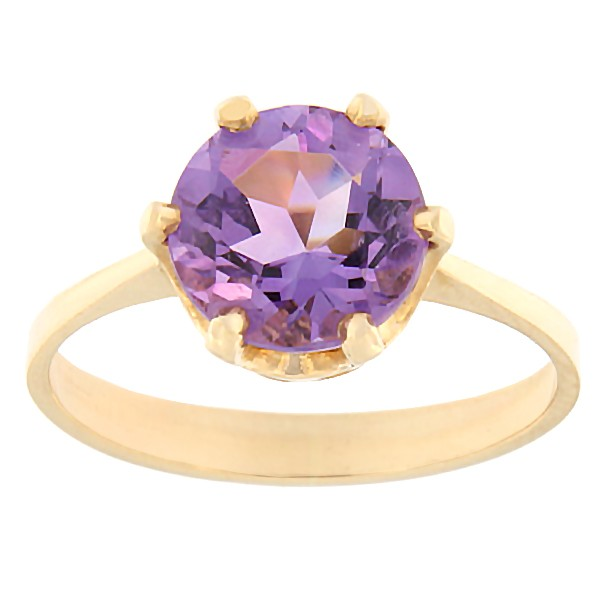 Gold ring with amethyst Code: rn0153-ametyst