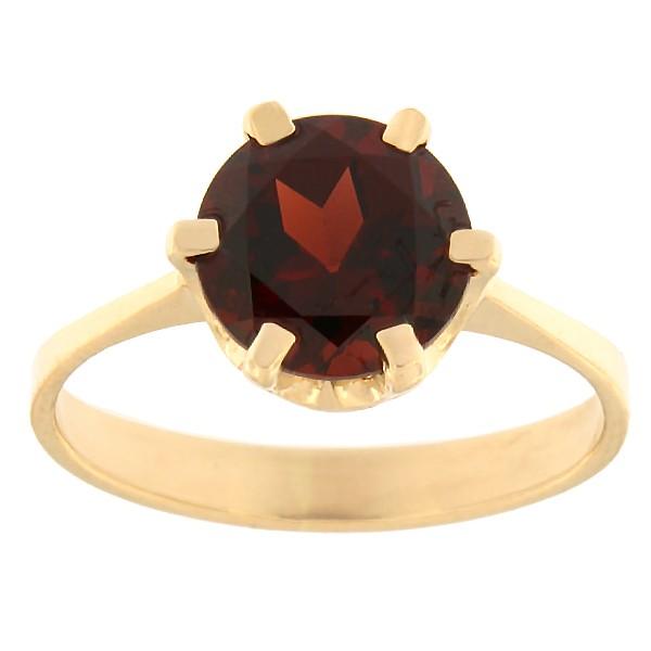Gold ring with garnet Code: rn0153-granaat
