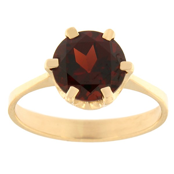 Gold ring with garnet Code: rn0153-granaat
