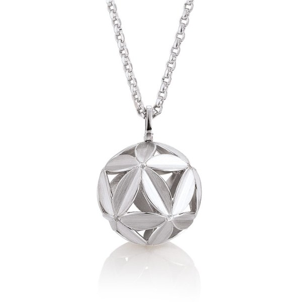 Silver pendant with white sapphire Code: 32032140