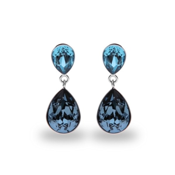 Silver earrings with Swarovski® crystals Code: K43202AQDB