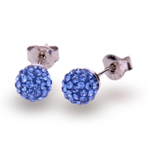 Hõbedast kõrvarõngad Swarovski® kristallidega Kood: K860016SA