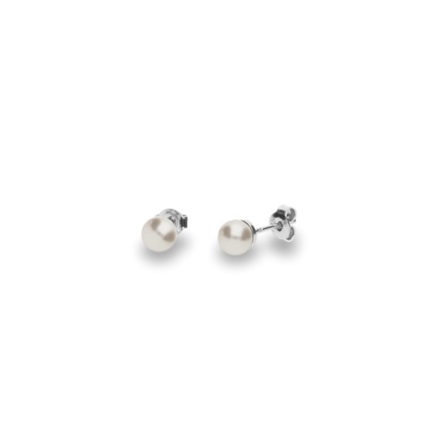 Silver earrings with Swarovski® crystal pearls Code: K58186W