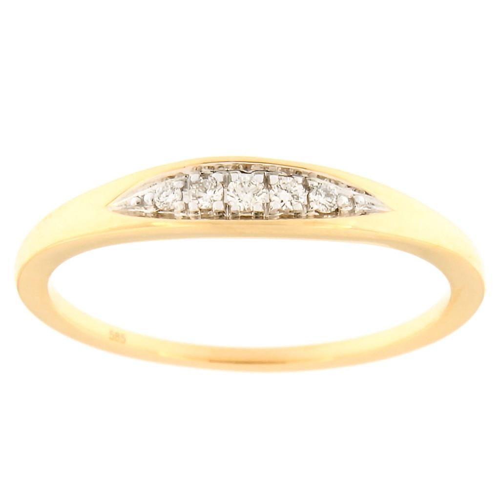 Kullast sõrmus teemantidega 0,05 ct. Kood: 89an