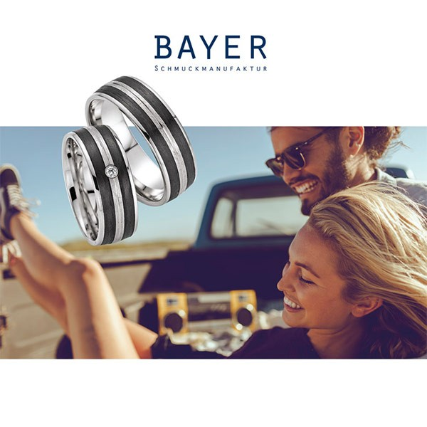 Bayer abielusõrmused - karboon