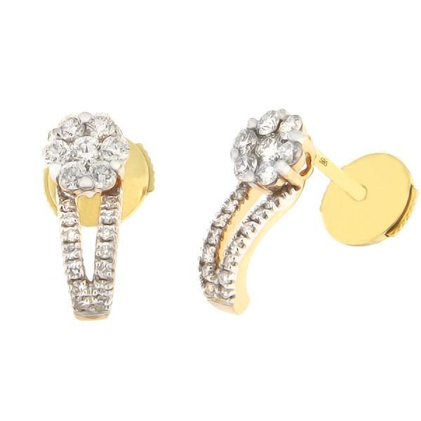 Kullast kõrvarõngad teemantidega 0,38 ct. Kood: 110ag