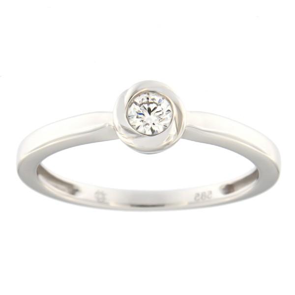 Kullast sõrmus teemantiga 0,11 ct. Kood: 117al