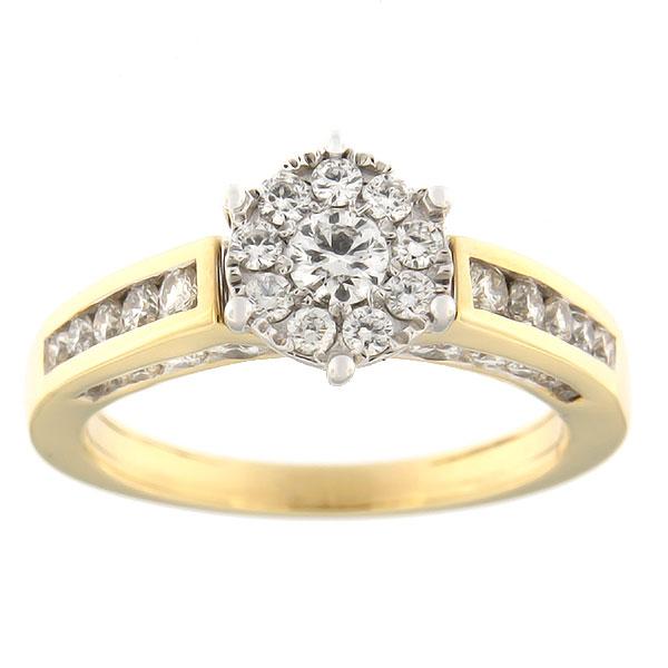 Kullast sõrmus teemantidega 1,00 ct. Kood: 49ha