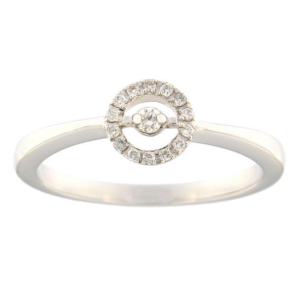Kullast sõrmus teemantidega 0,10 ct. Kood: 64sl