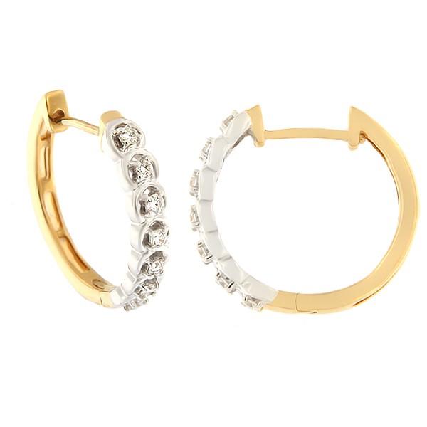 Kullast sõrmus teemantidega 0,25 ct. Kood: 151ag