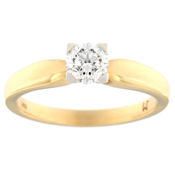Kullast sõrmus teemantiga 0,50 ct. Kood: 109at