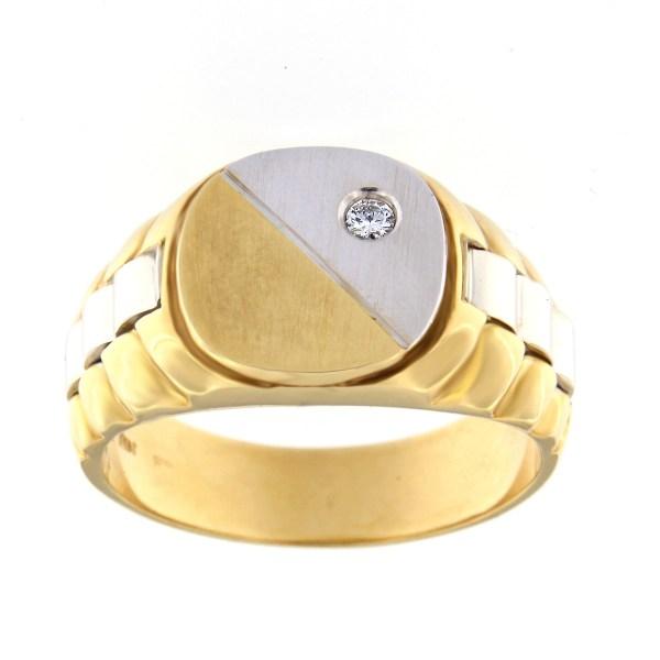 Kullast klotser teemantiga 0,05 ct. Kood: 1742b