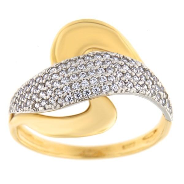 Kullast sõrmus tsirkoonidega Kood: 216220