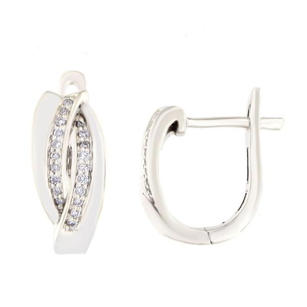 Kullast kõrvarõngad teemantidega 0,11 ct. Kood: 29at