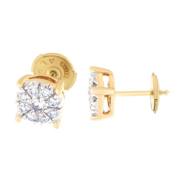 Kullast kõrvarõngad teemantidega 0,38 ct. Kood: 30at