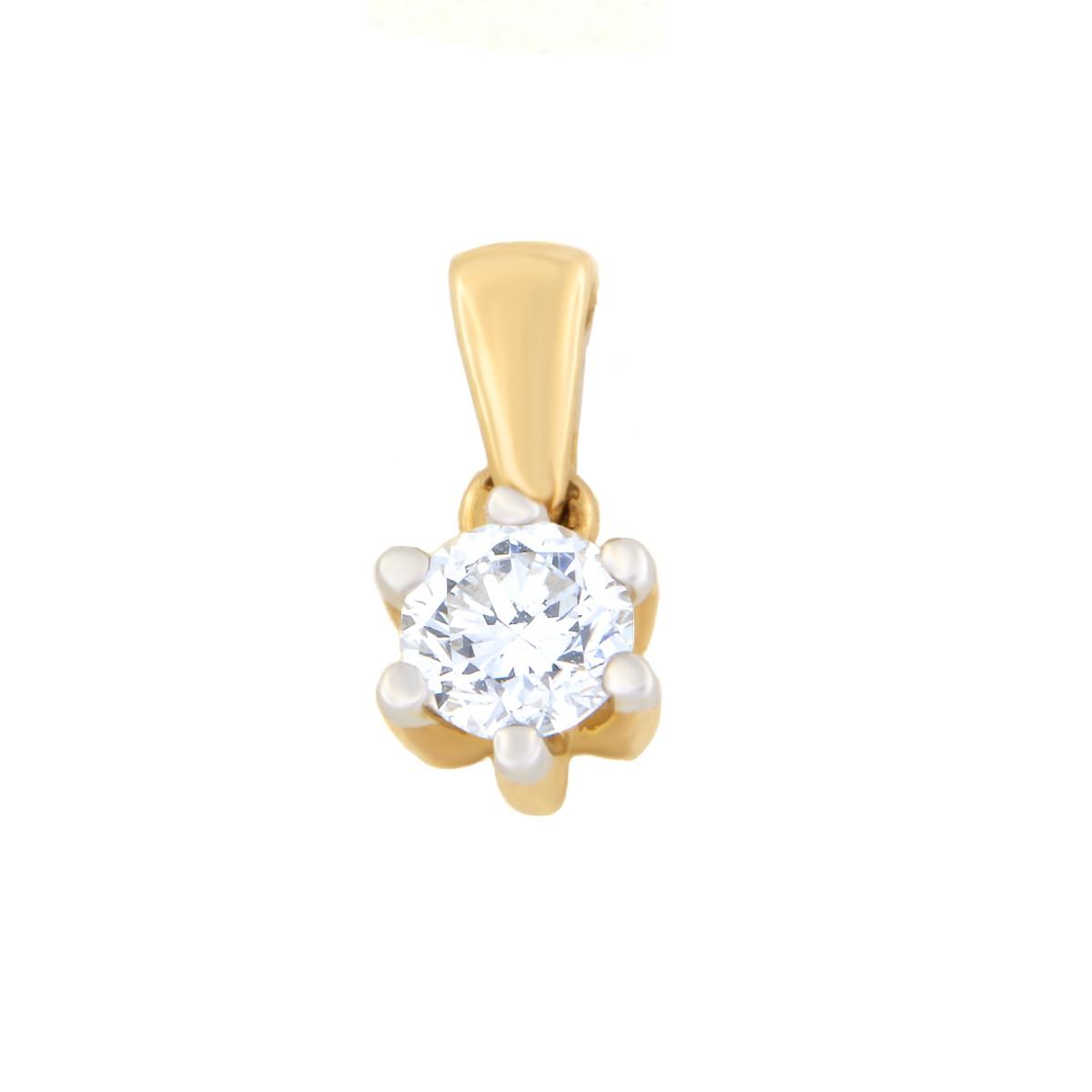 Kullast ripats teemantiga 0,50 ct. Kood: 71hb
