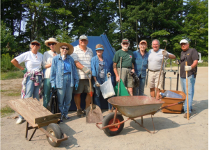 Sue Shafer [Organizer], Jackie Kibbey, Myrna Ziebert, John Grabowski, Mary Jane Grabowski, Sam Bledsoe, Mo Bell, Bill Shafer, Ron Servatius (photo: Caroline Bledsoe)