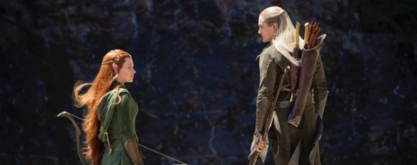 "Legolas: ""Hey, Tauriel, want to be my girlfriend?"" Tauriel: ""No Thanks."" Legolas: *She's just shy.*"