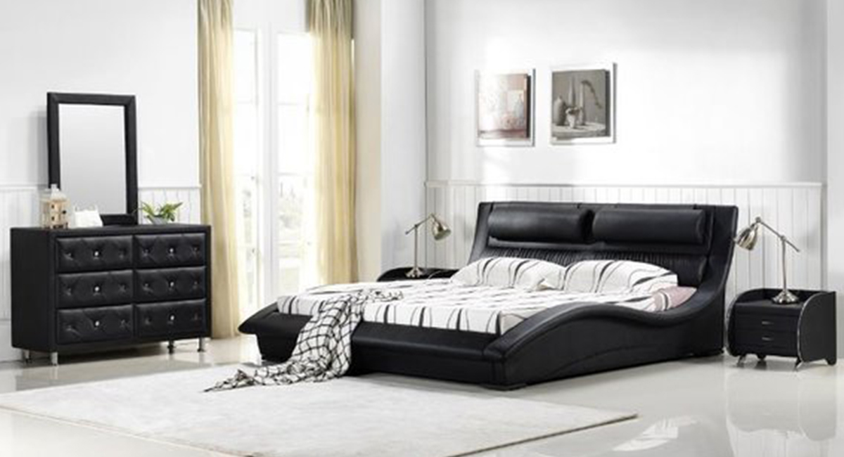 napoli modern bedroom set black