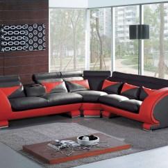 Black And Red Sectional Sofa Restoration Hardware Kensington 98 Jacksonville Fl