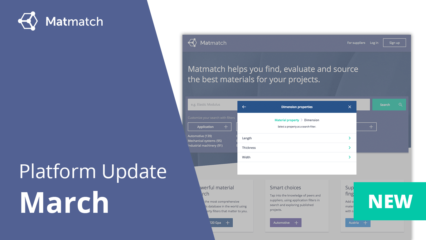 Matmatch platform update March 2018
