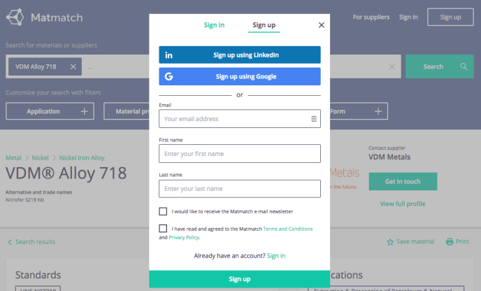 social signup feature - may 2018 platform update