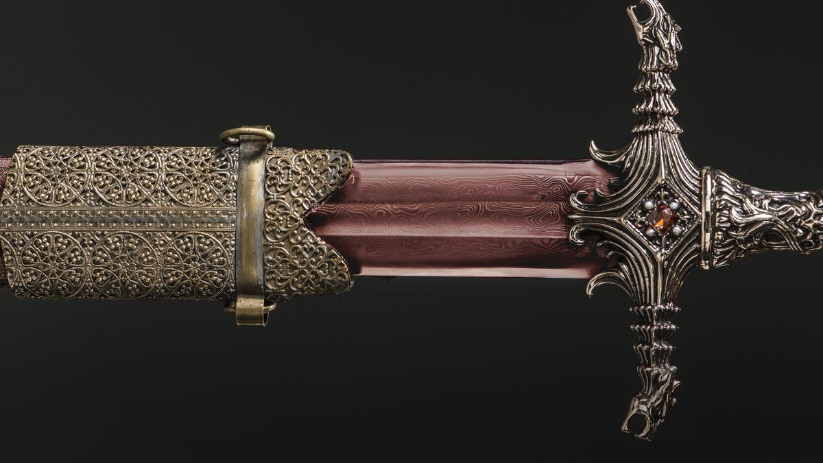 Oathkeeper is one of two Valyrian steel longswords made from Ice, the greatsword of House Stark, under orders of Lord Tywin Lannister.
