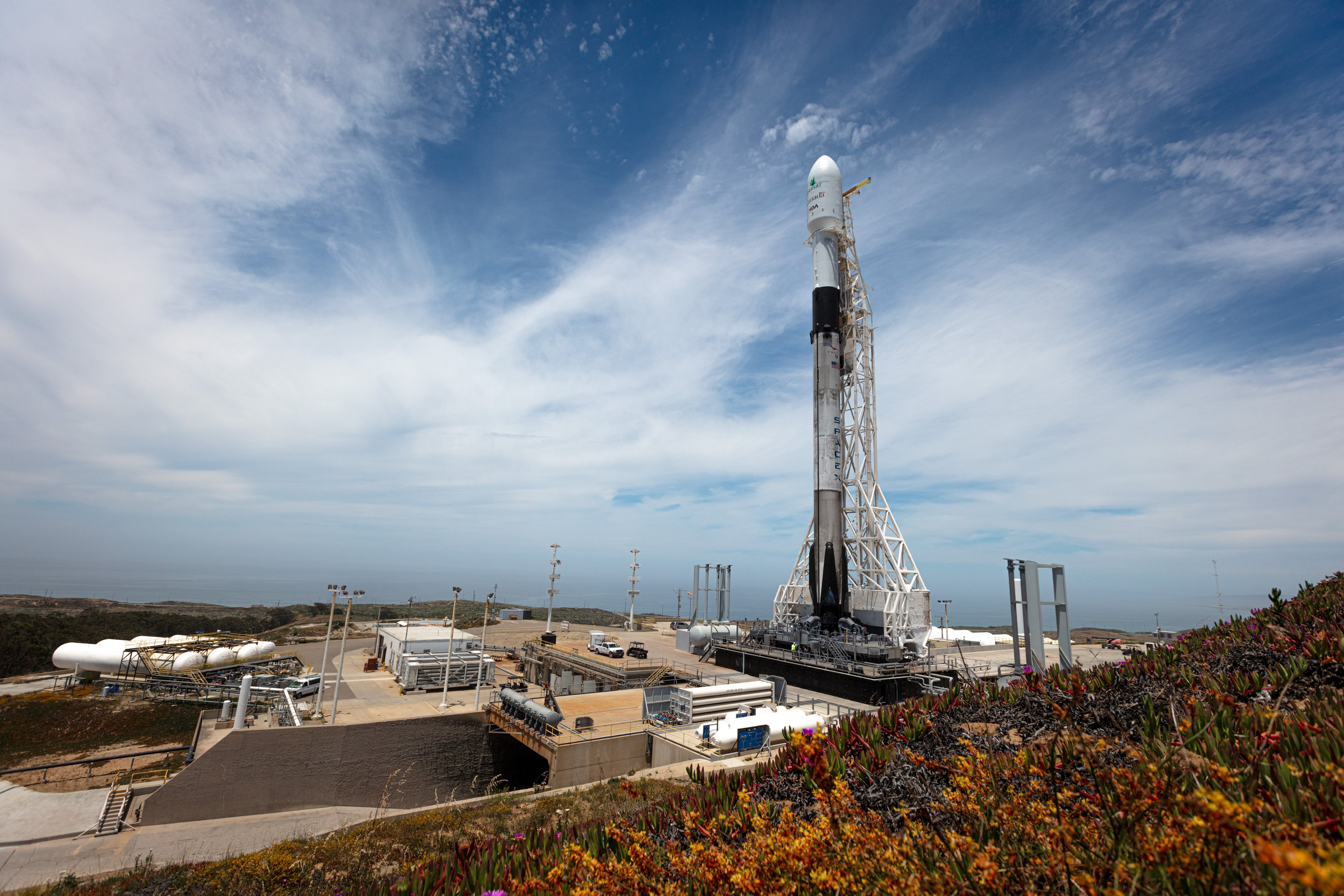 SpaceX's California launch pad at Vandenberg Air Force Base