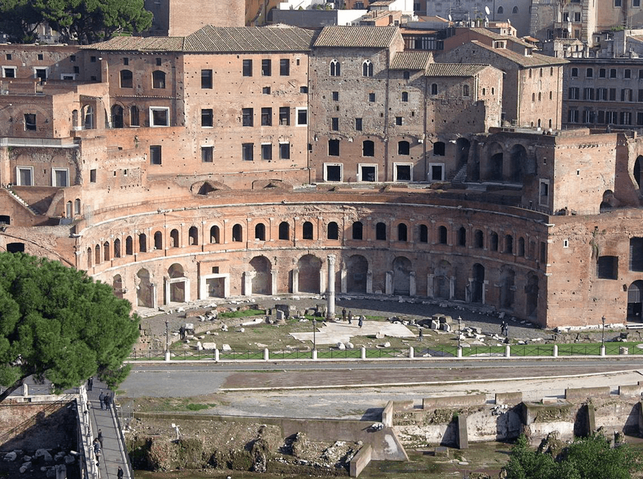 The front of the 'Mercati Traianei,' Trajan's Market, Rome. (Photo by Piergiorgio Rossi)