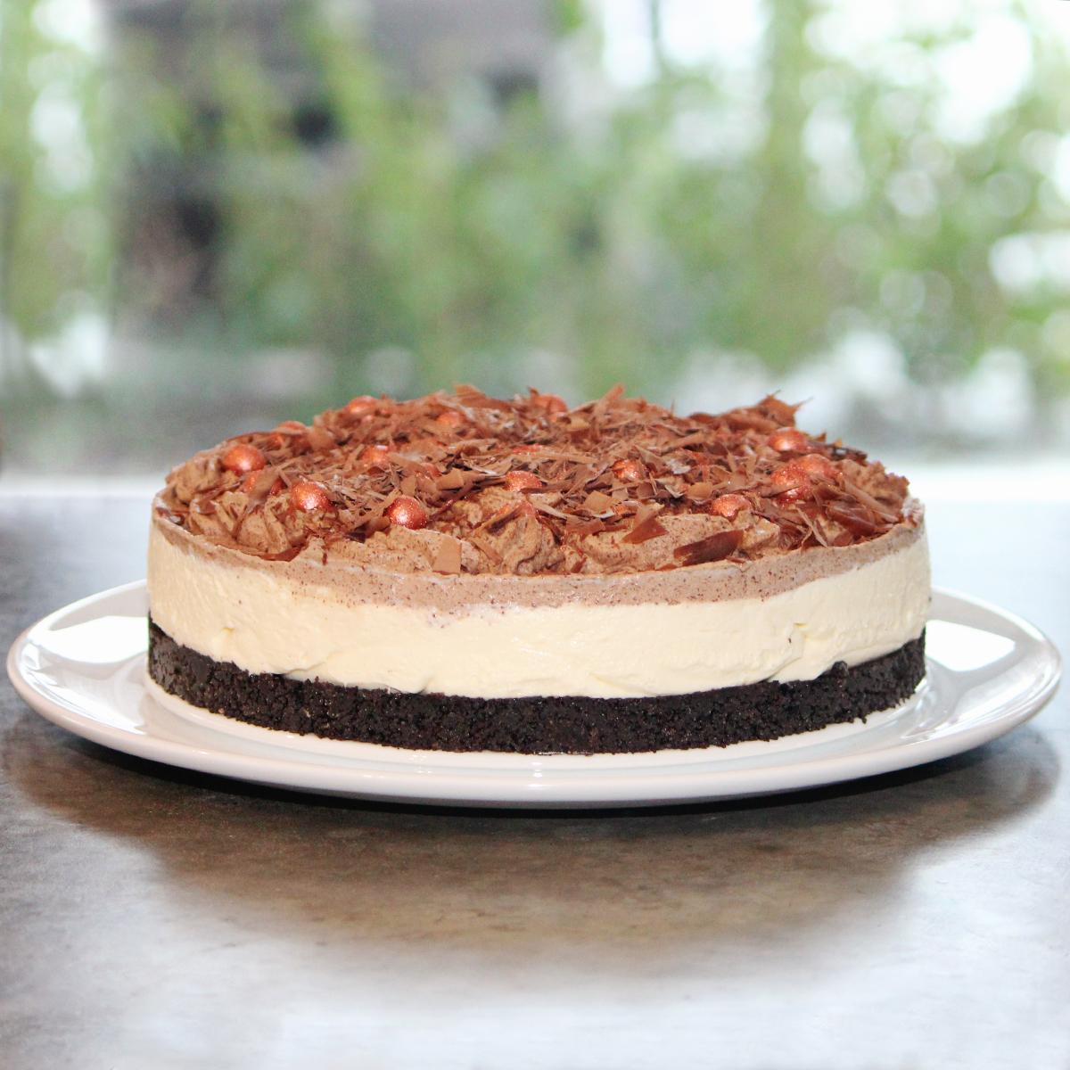 Oreokake med hvit sjokolade