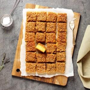 Drømmekake - dansk kake med kokos og brunt sukker