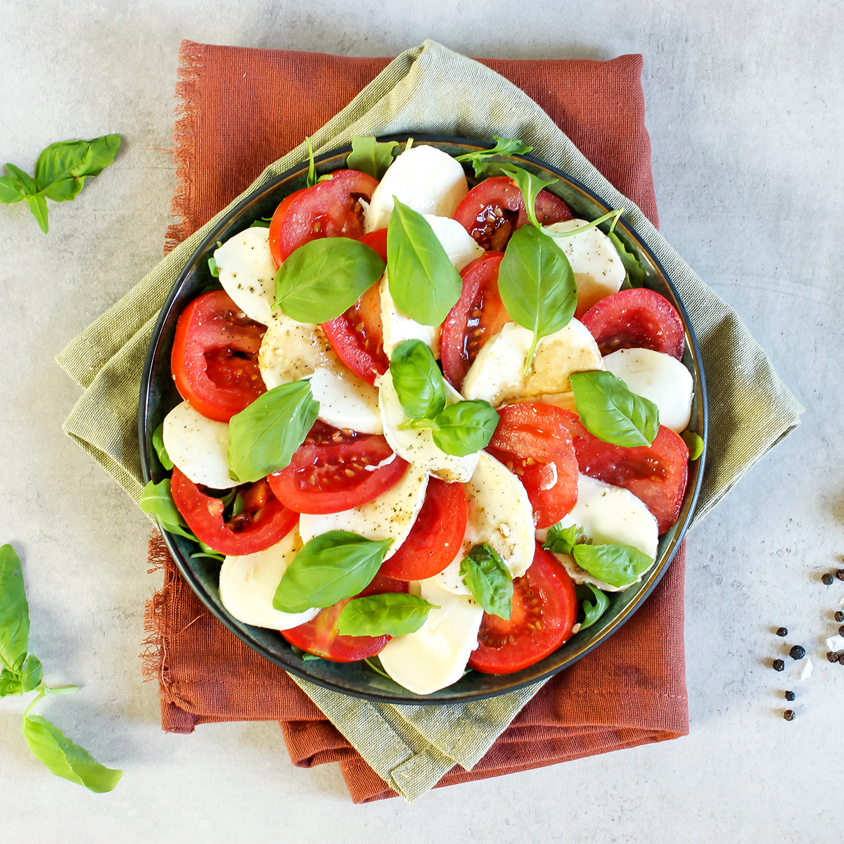 insalata caprese - tomat og mozzarellasalat