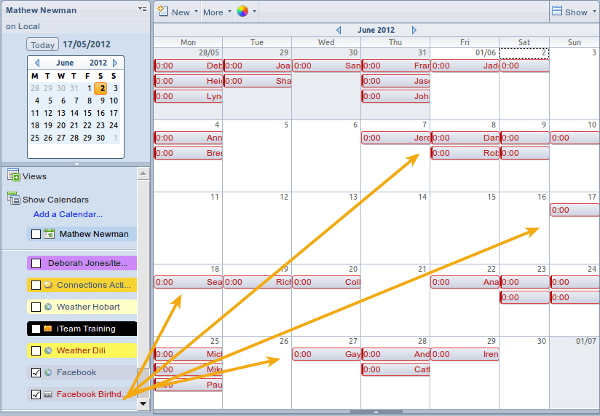 Add Facebook to Lotus Notes Calendar Step 5