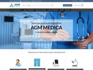 re-desain website kesehatan agmmedica - jasa buat website jogja