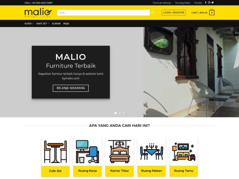 Website toko furniture online bymalio.com