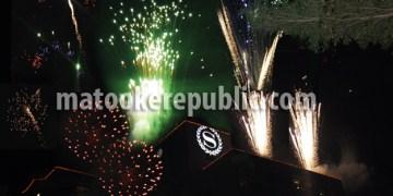 Fireworks lighting the skies at Sheraton.
