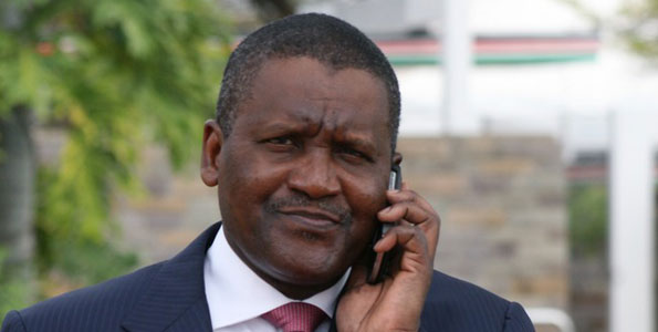 Dangote is the richest African.