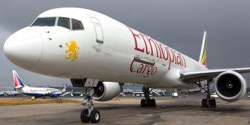 An Ethiopian Airlines cargo plane.
