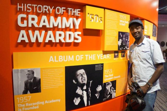 Hosea at the Grammy Awards museum.
