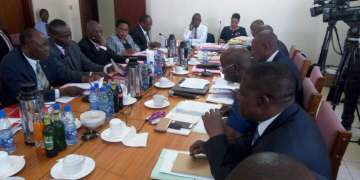 BoU officials before COSASE.