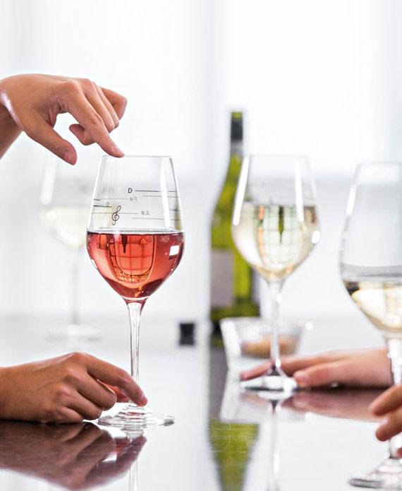 verre a vin musical