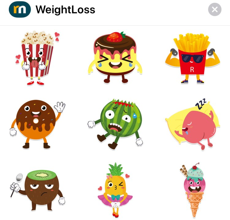iMessage stickers: Healthy Effective Weight Loss