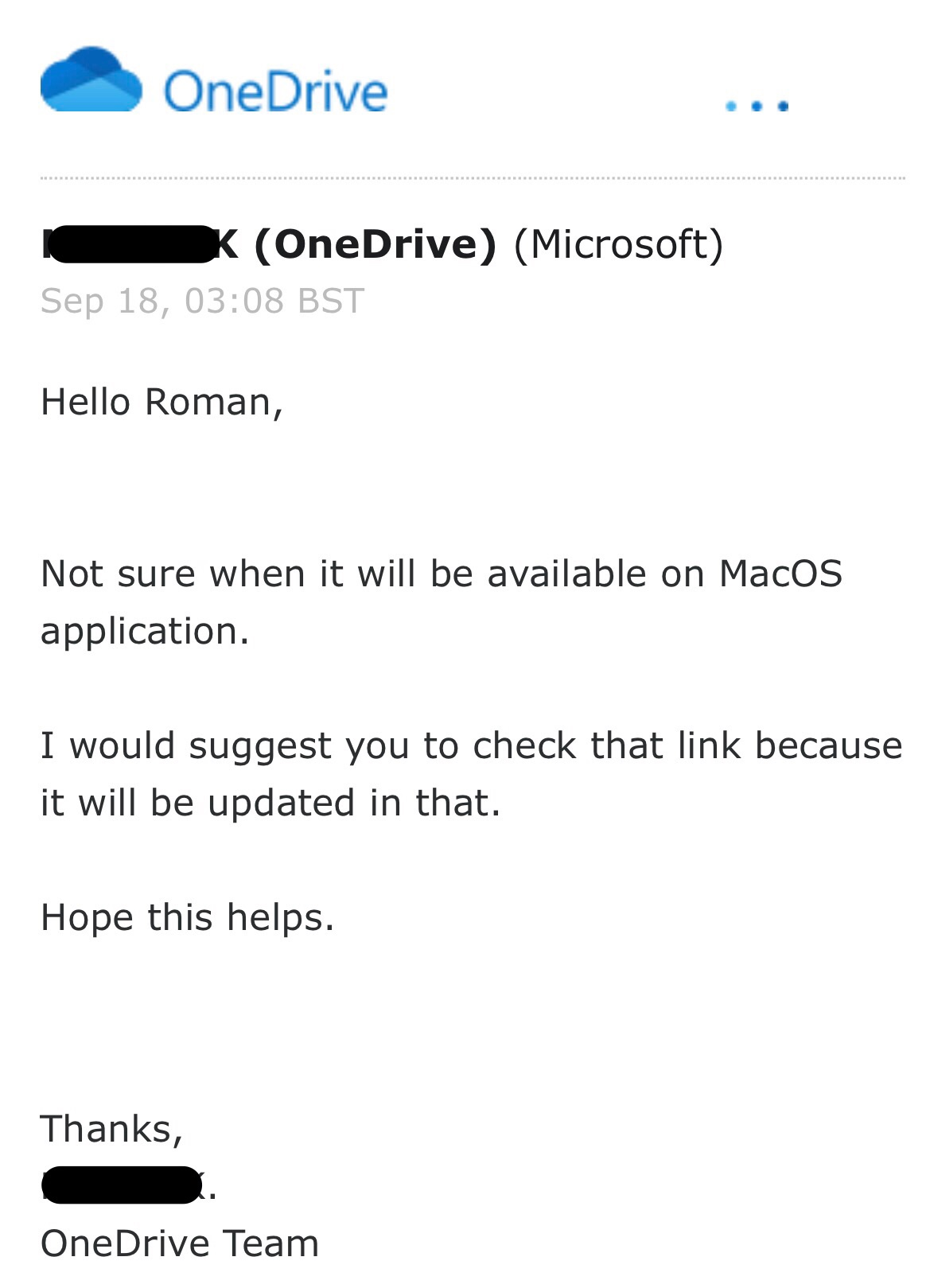 Personal Vault OneDrive