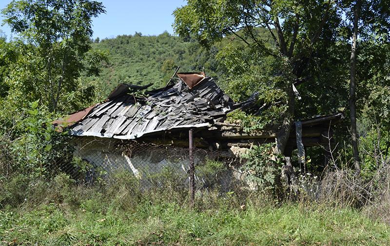 Ruina casei Aneta Anițescu, în august 2016