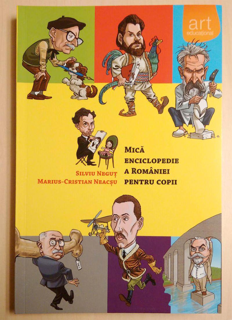 """Cartea """"Mică Enciclopedie a României pentru Copii"""" face parte din colecția bibliotecii """"Mihai Eminescu"""" a """"Bulboacă și Asociații SCA"""""""