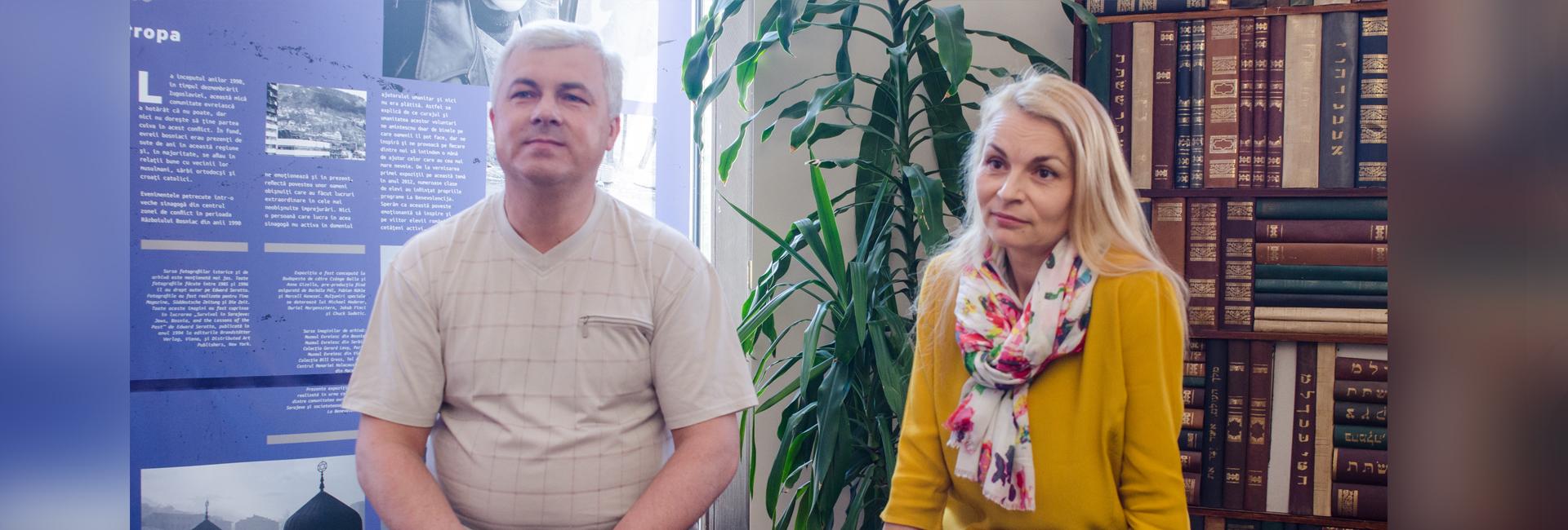 actorii Ludmila Gheorghiţă şi Ion Grosu Basarabia Chişinău româneşte limba română slider